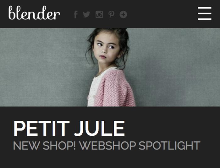 Blender magazine over Petit Jule